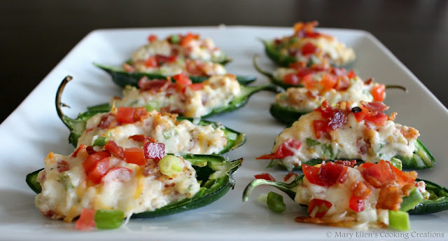 Creamy and cheesy BLT Stuffed Jalapenos. BLT Jalapeno Poppers - perfect appetizer or party food. Celebrating 10 years of our best recipes.