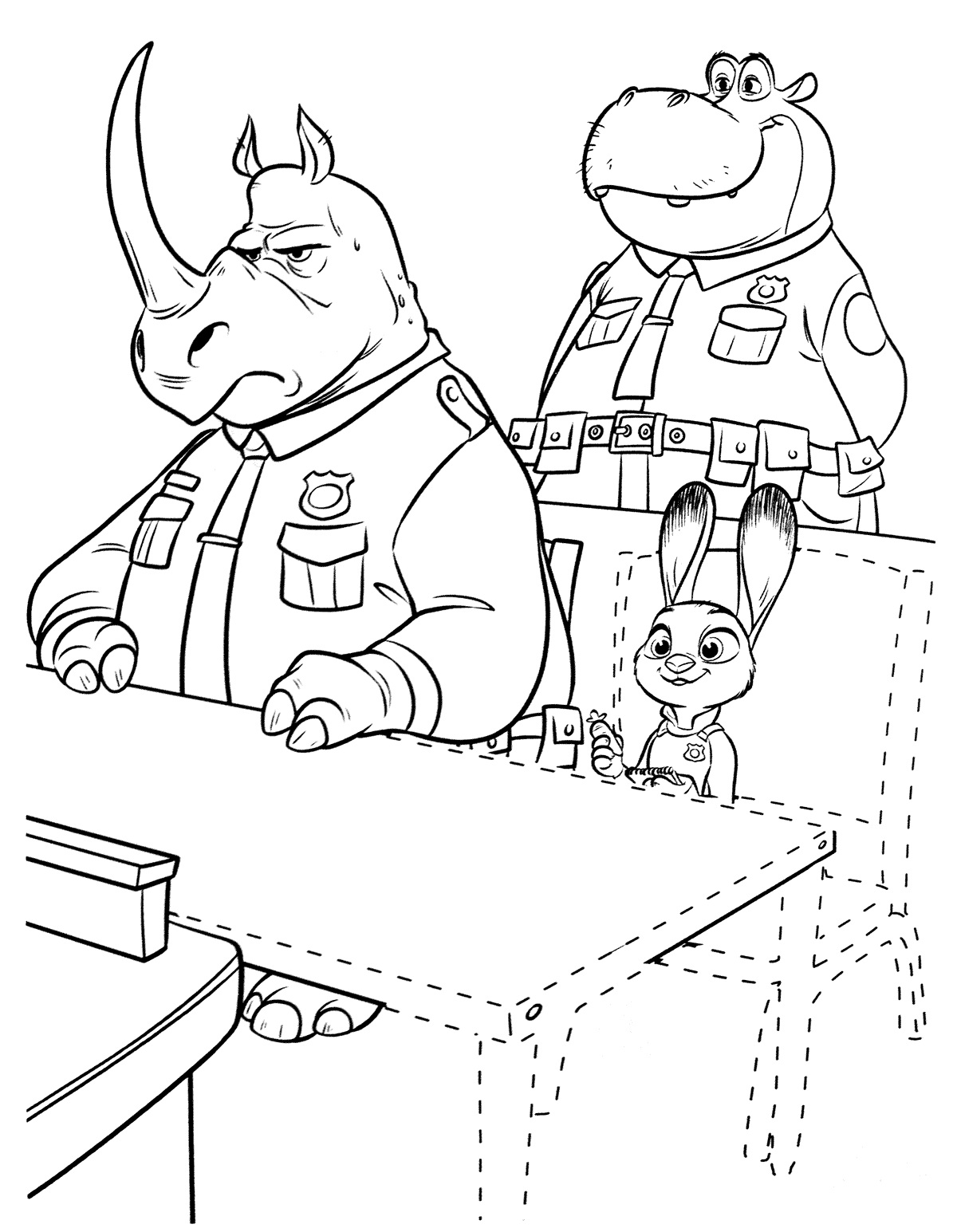 Free coloring pages zootopia
