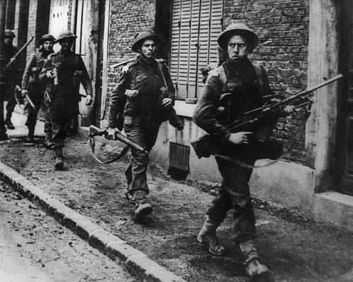 WW2 British Soldiers of 5th Battalion-Coldstream Guards- French town of Arras- early September 1944