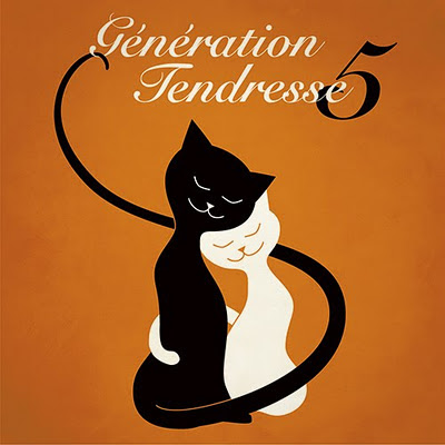 Génération Tendresse part 5 - music cover with illustration of two cute cats in a hug