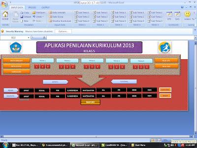 Download Aplikasi Raport Kurikulum 2013 Kelas 5 SD
