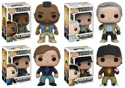 "The A-Team Pop! Television Series by Funko - John ""Hannibal"" Smith, B.A. Baracus, Templeton ""Faceman"" Peck & ""Howling Mad"" Murdock"