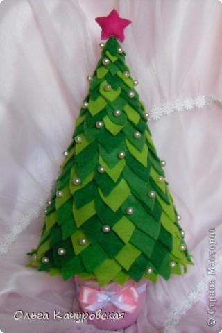 Artesanato fofo arvore de natal em feltro ou eva - Arbol de navidad artesanal ...