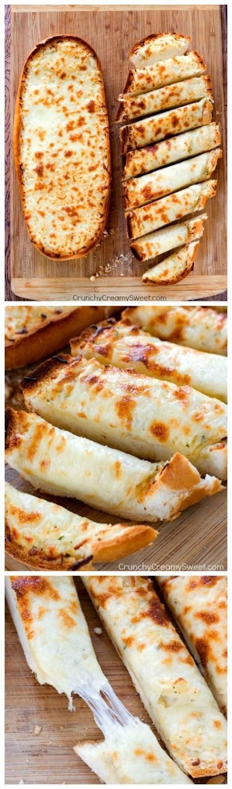 Easy Cheesy Garlic Bread #GARLICBREAD #CHEESYGARLIC #EASYRECIPES #LUNCH #FOODHUNTER