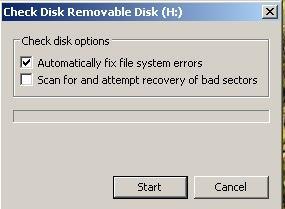 cara memperbaiki flashdisk yang error