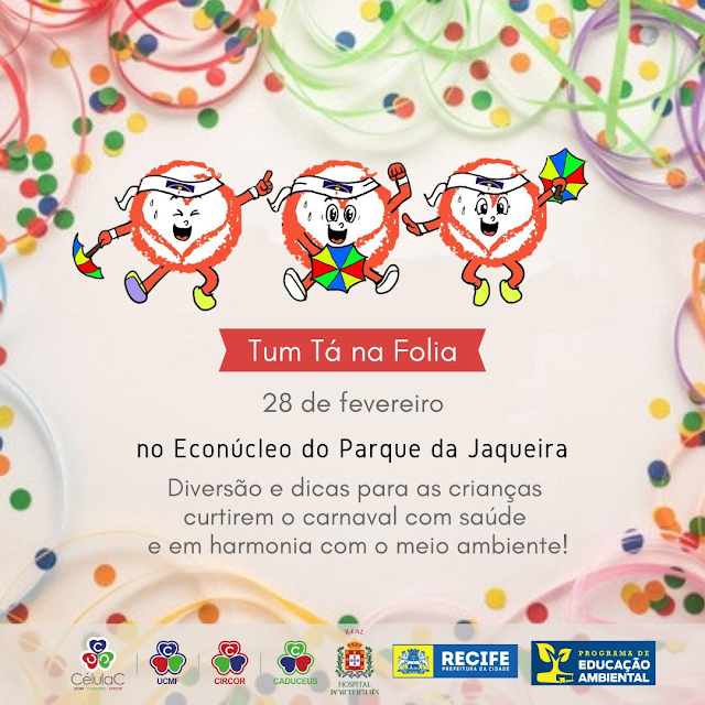 Carnaval infantil gratuito traz dicas para brincar com saúde e cuidado com o meio ambiente