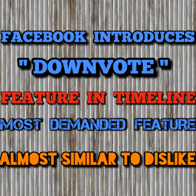 Facebook Downvote Feature