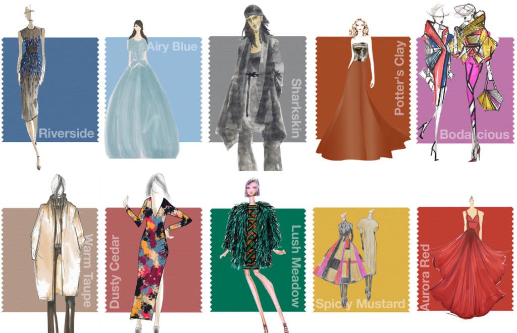 Colori di tendenza autunno inverno 201617 Blog di moda