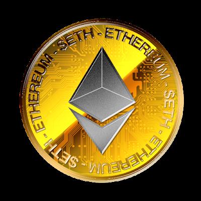 Ethereumのフリー素材(金貨灰色ver)