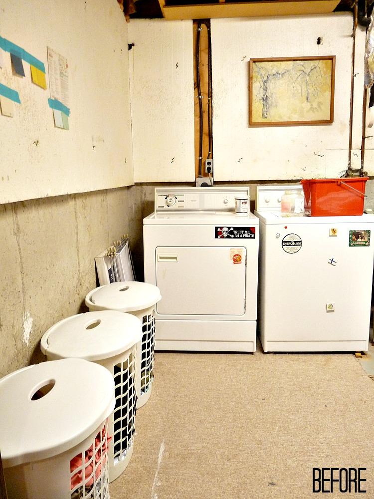 Sad basement laundry room