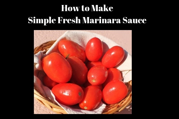 these are plum tomatoes used in a marinara simple quick Italian American sauce