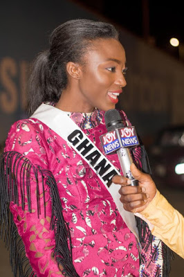 2017 Miss Universe Ghana Ruth Quarshie Gets Rousing Welcome