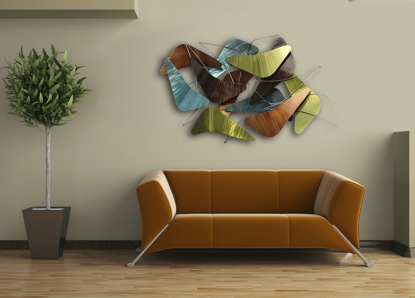 Gift home today new contemporary wall designs are for Contemporary wall mural