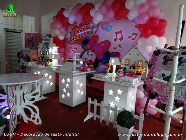 Decoração de aniversário infantil Minnie Rosa - Festa feminina