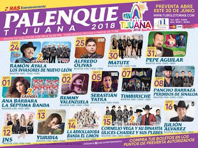 programa palenque tijuana 2018