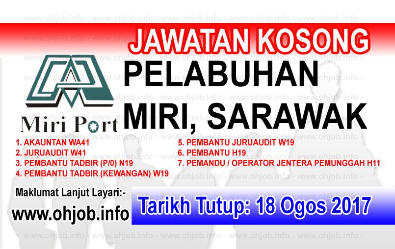 Jawatan Kerja Kosong Lembaga Pelabuhan Miri logo www.ohjob.info ogos 2017