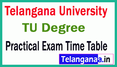 Telangana University Degree 1st 2nd 3rd Practical Exam Time Table