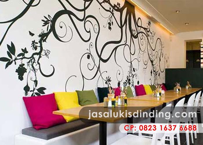 Mural cafe untuk meningkatkan omset dan daya tarik pengunjung for Mural untuk cafe