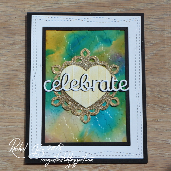 Handmade card, celebrate, Distress Oxide, Impression Obsession,  MFT