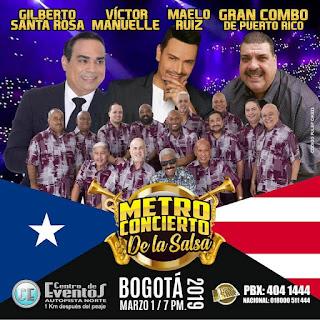 POSTER METRO CONCIERTO DE LA SALSA 2019 Bogotá