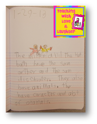 How cute are these?! I can read their writing all day long. Oh, wait ...