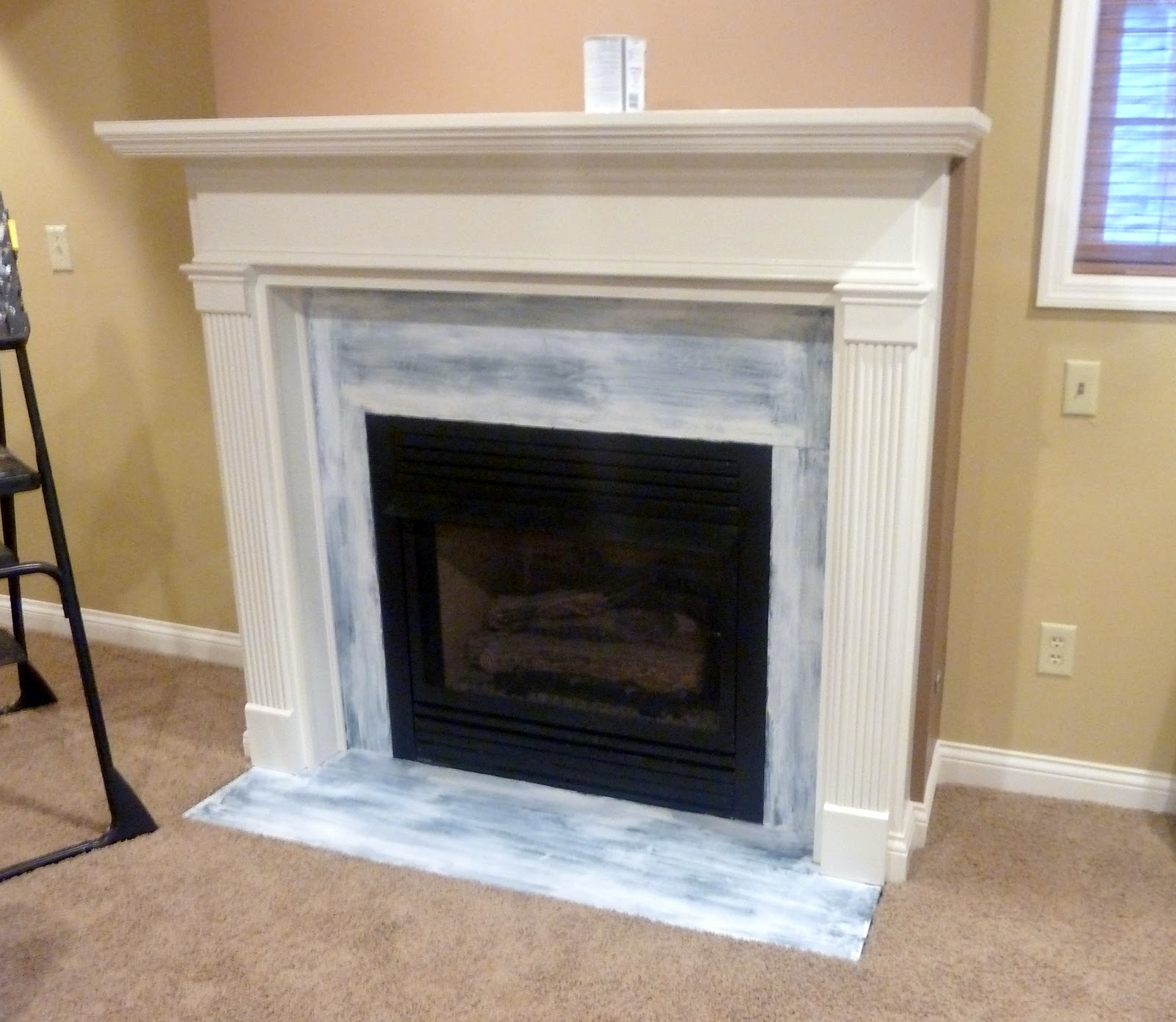 Fireplace Finishes Ideas Chalkboard Brick Fireplace Makeover Our Fifth House