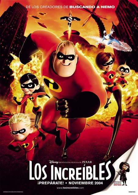 Cartel película de Pixar Animation Los Increíbles