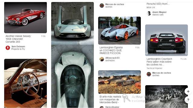 Página de Pinterest de automoción