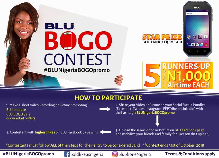Blu Nigeria Bogo Contest Ending Soon You Have Arrived Promos In