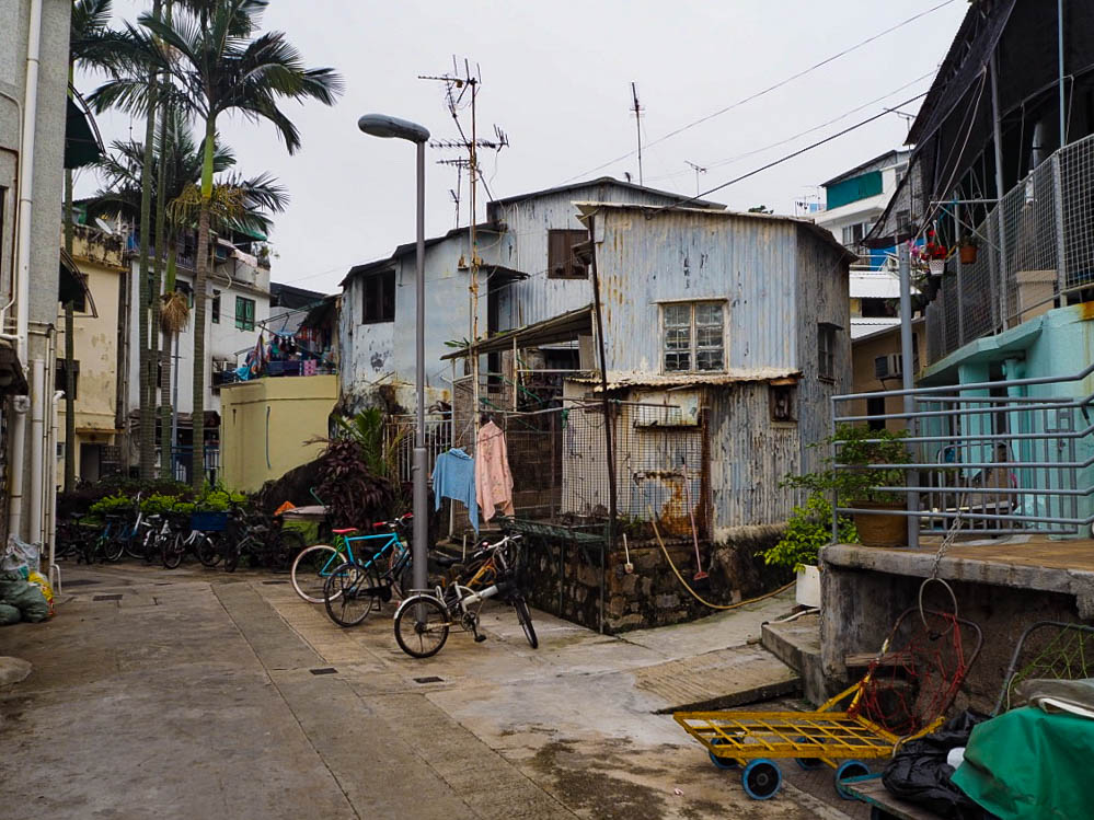 Corrugated iron houses on Cheung Chau island, Hong Kong