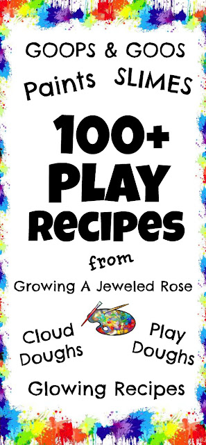 100+ PLAY RECIPES for Kids (an amazing collection!) #playrecipes #playrecipesforkids #playrecipesforchildren #playdoughrecipe #slimerecipe #artsandcraftsforkids