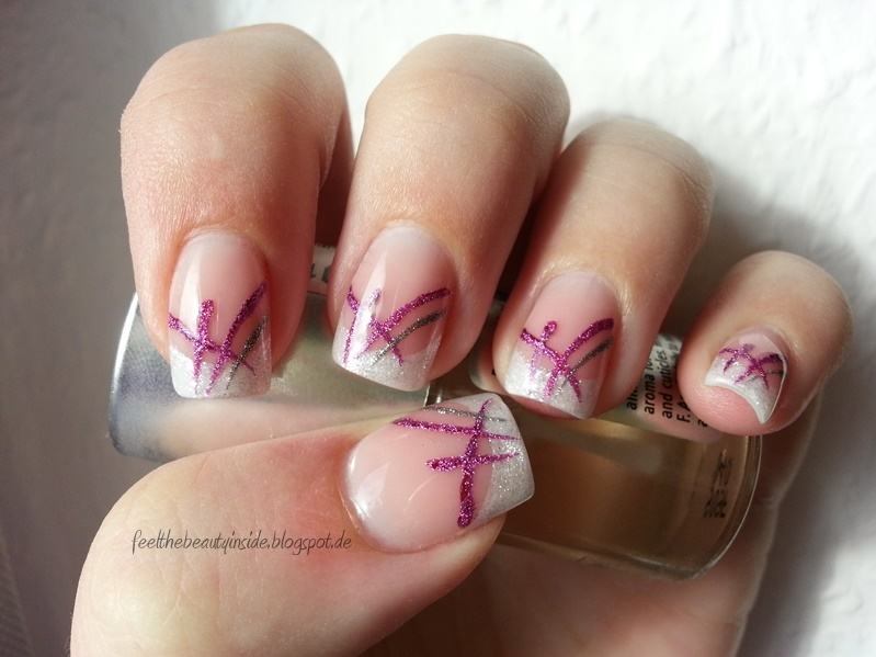 Nageldesign French Pink
