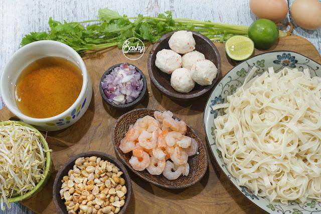 resep Pad Thai ( Kwetiau Goreng ala Thailand)