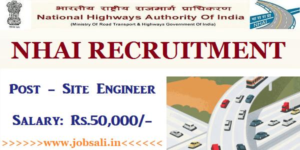 NHAI Engineer Recruitment 2017, NHAI Contract jobs, Civil Engineering jobs