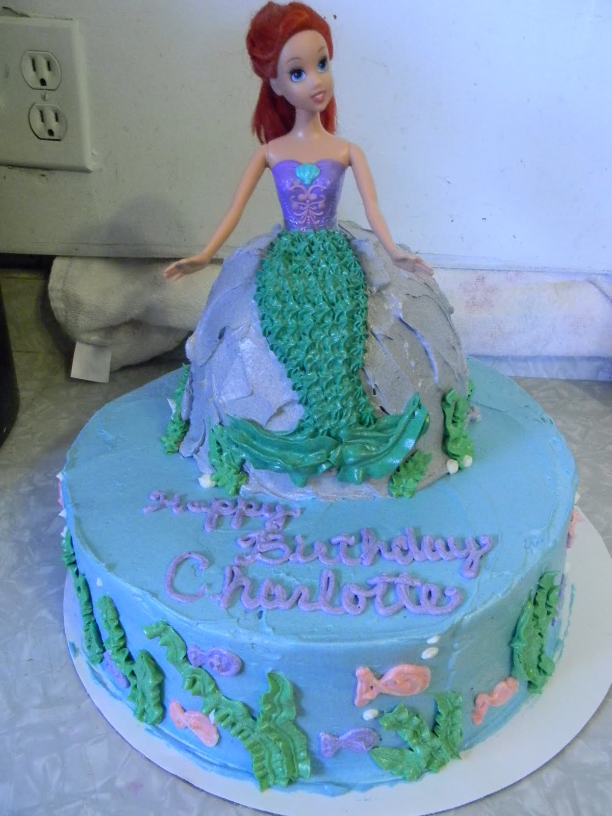 Pastry Mama Ariel Cake