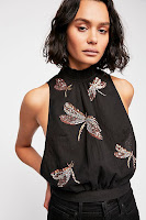 FreePeople Garden Embroidered Top