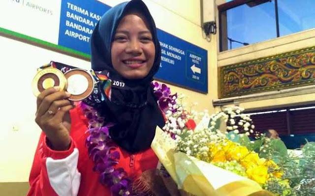 """Dasyat Perjuangan dan Pengorbanan """"Srikandi Berhijab"""" Diananda Demi Dua Emas untuk Harumkan Indonesia"""