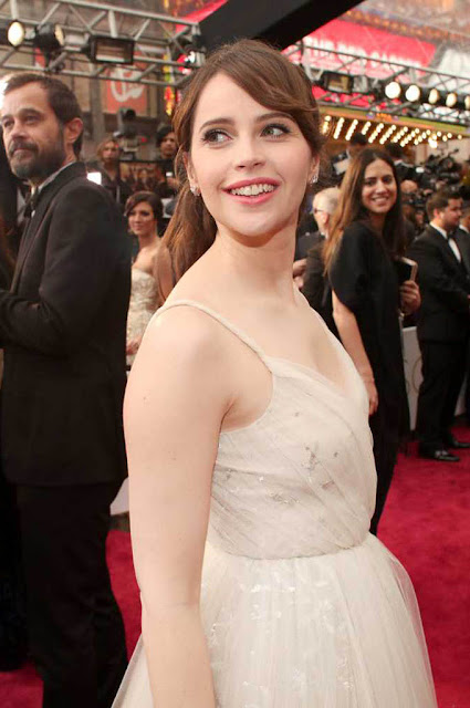 Felicity Jones at 89th Annual Academy Awards