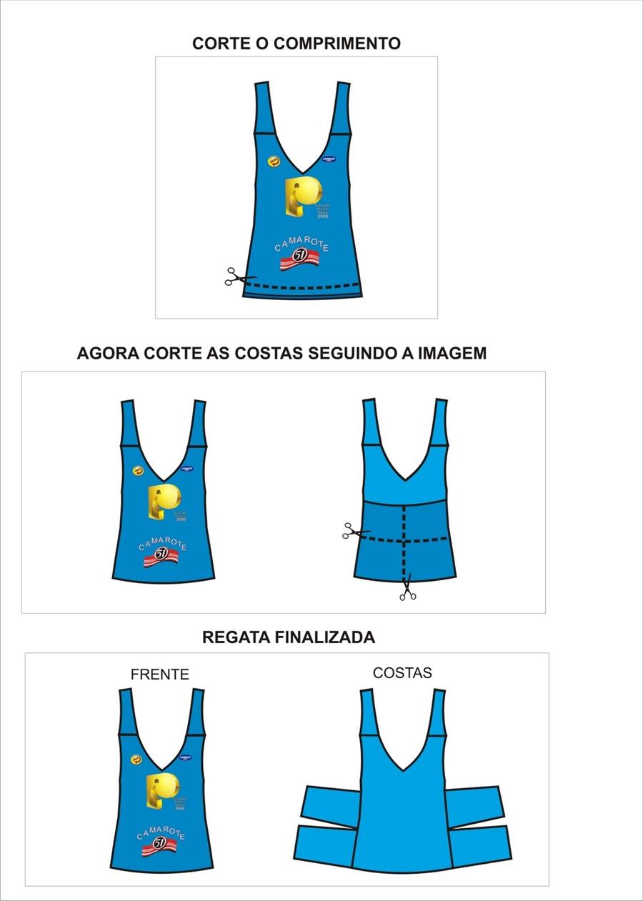 camisa customizada para o carnaval