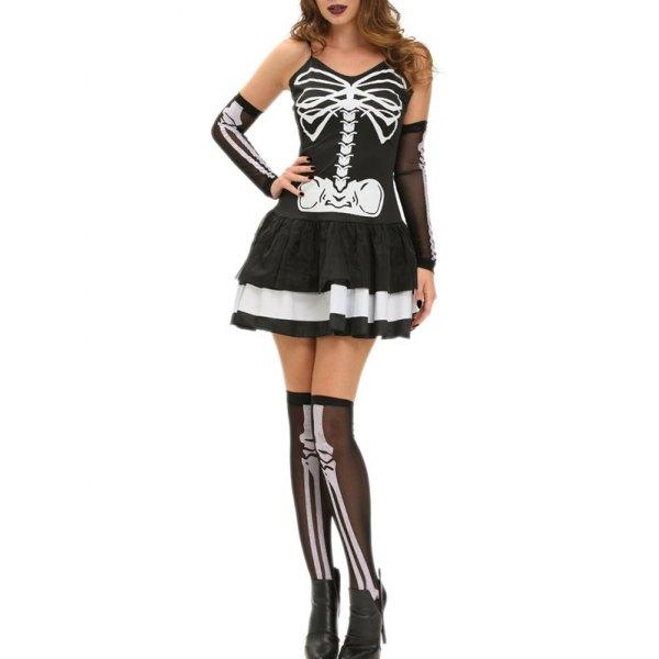 vestido de caveira
