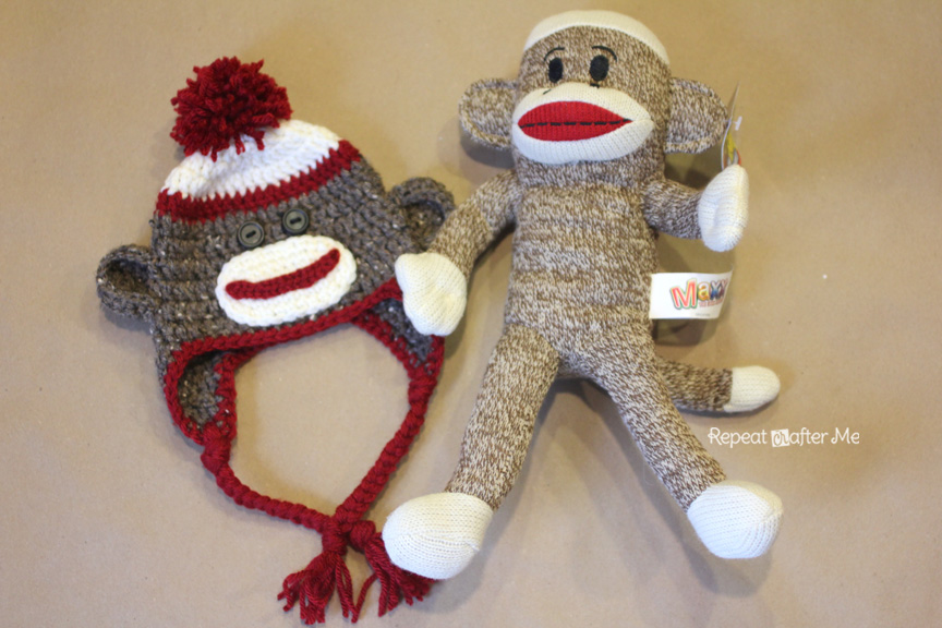 Crochet Sock Monkey Hat Pattern - Repeat Crafter Me 557edef889c