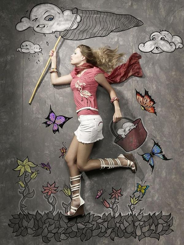 Fotos e ilustración absolutamente creativos.