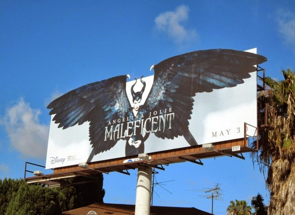 Maleficent winged movie billboard