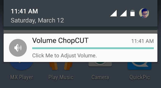 Controlling Volume with Voume Chopcut App
