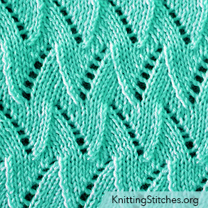 Flame Chevron pattern is appropriate for knitters with basic knitting knowledge of K, P, Yo, k2tog and ssk