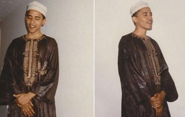 Obama pakai baju muslim