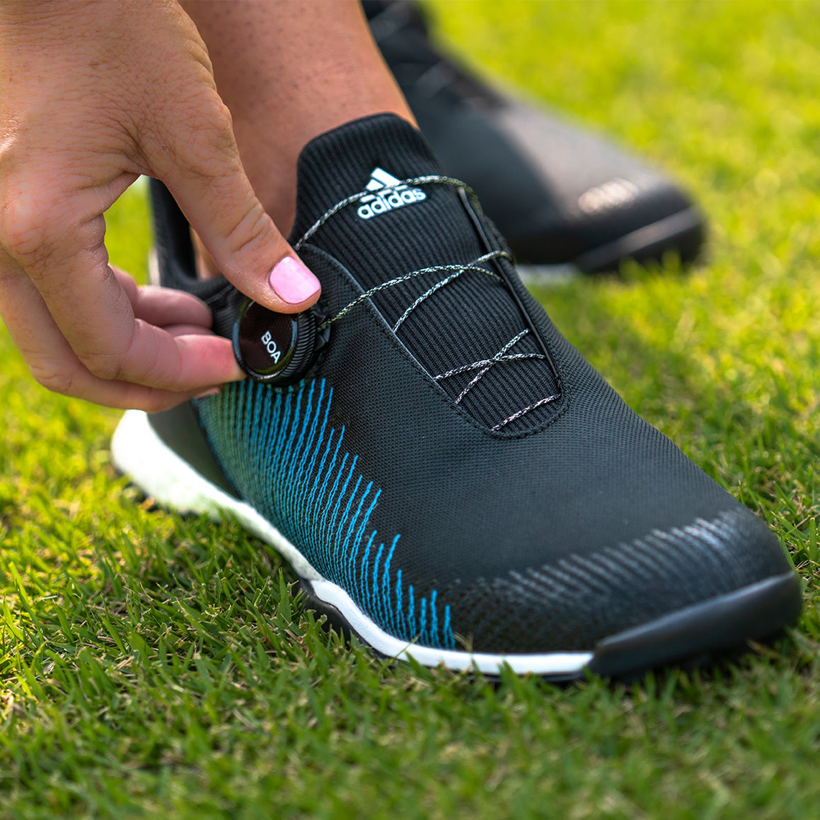 3bfde4bab27f The  1 Writer in Golf  Adidas 2019 Forgefiber BOA Golf Shoes Preview ...