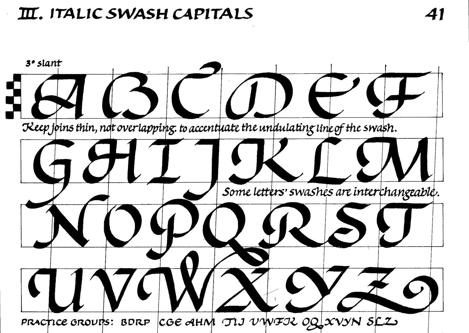 Margaret Shepherd Calligraphy Blog 85 Swash Capitals