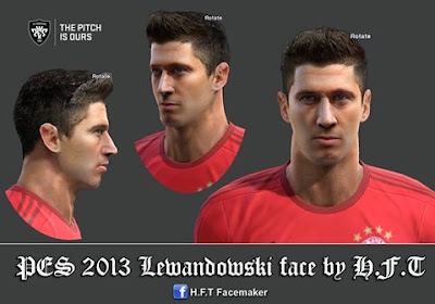 PES 2013 Lewandowski face by H.F.T