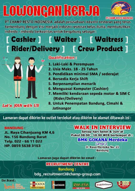 Walk In Interview Champ Resto Indonesia